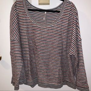 Casual Free People Striped Sweater